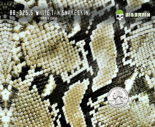 Black Tan Snake Snakeskin Hydrographics Film Pattern Buy Big Brain Graphics White Base Quarter Base