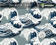 White Waves Japanese Fabric Feel Hydrographics Pattern Style Dipping Film Dip Film Buy Big Brain Graphics USA Seller Nanochem Yeti White Base Quarter Reference