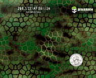 Swamp Dragon Skin Muted Camo Green Hexagon Hex Hydrographics Buy Dip Film Trusted USA Supplier Big Brain Graphics NanoChem Yeti White Base Quarter Reference