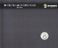 Real Weave Carbon Fiber Hydrographics Pattern Big Brain Graphics Black Base Quarter Reference