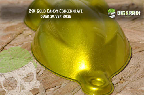 24K Gold Candy Concentrate Clear Silver Base Big Brain Graphics