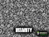 Insanity Skulls Crazy Motorcycle Bad Ass Big Brain Graphics White Base Hydrographics Film