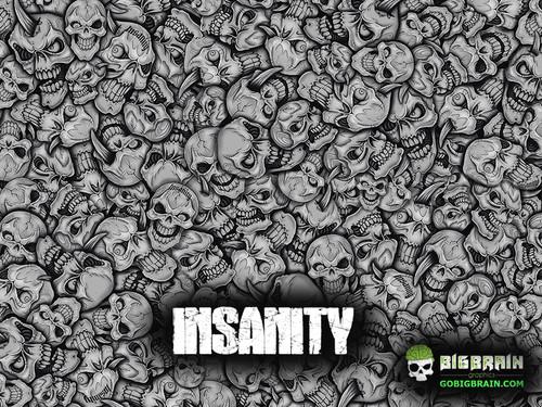 Insanity Skulls Crazy Motorcycle Bad Ass Big Brain Graphics White Base Hydrographics Film