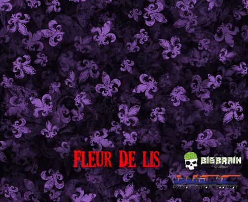 Fleur De Lis Hydrographics Pattern Film Purple Base Big Brain Graphics Buy