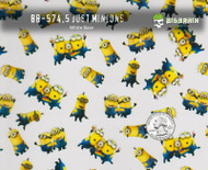 Minions Alone Bunches Movie Cartoon Super Cute Kid Pattern White Base Big Brain Graphics Quarter Reference