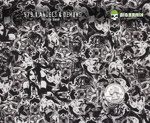 Angels Demons Skulls Women Hydrographics Pattern Film Buy Seller Big Brain Graphics White Base Quarter Reference