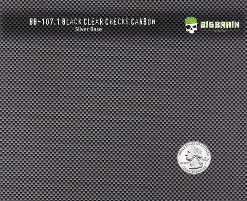 Black Clear Checks Carbon Fiber 107 Hydrographics Pattern Film Buy Dipping Big Brain Graphics Seller Silver Base Quarter Reference