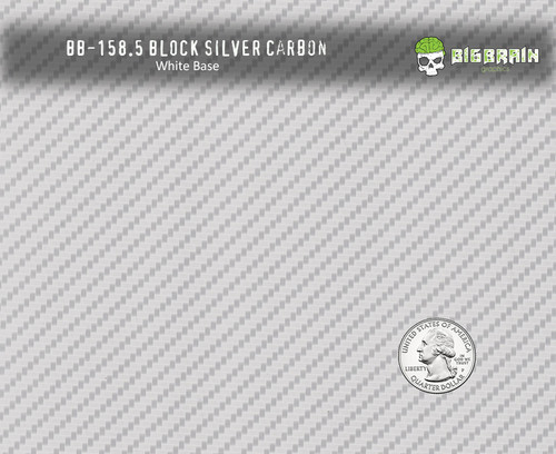 Block Silver Carbon Fiber 158 Hydrographics Pattern Film Buy Dipping Big Brain Graphics Seller White Base Quarter Reference