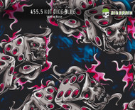 Hot Dice Blue 455 Hydrographics Pattern Film Buy Dipping Big Brain Graphics Seller White Base