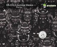 Samurai Masks Japanese Hydrographics Film Buy Big Brain Graphics White Base Quarter Reference