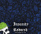 Insanity Reduced Skulls Skull Big Brain Graphics Custom Hydrographics Film Pattern Big Brain Graphics Blue Base