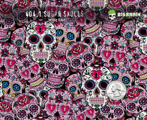 sugar skulls sugar pink girly pattern day of day muertes hydrographics pattern big brain graphics supplies