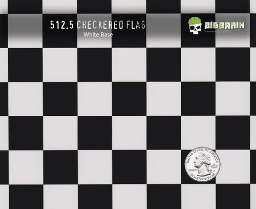 Checkered Flag Checkerboard Checkers Black Clear Race Racing Hydrographics Big Brain Graphics Pattern Film White Quarter Reference