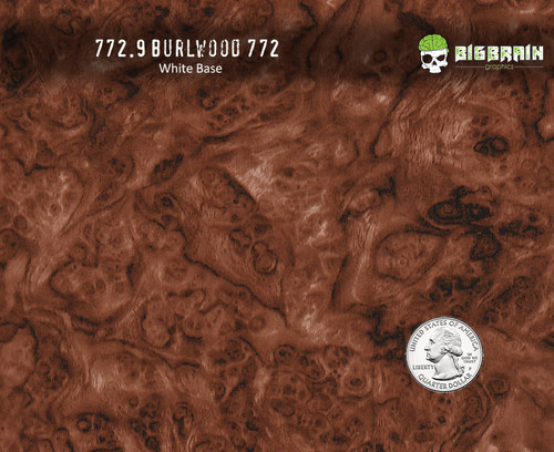Burlwood Burl Wood Woodgrain Medium Detail Hydrographics Pattern Film Big Brain Graphics Seller White Base Quarter Reference