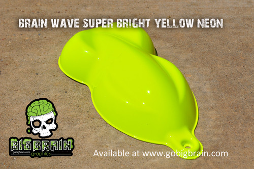 Brain Wave Yellow Bright Neon Paint Big Brain Graphics Brightest Speed Shape