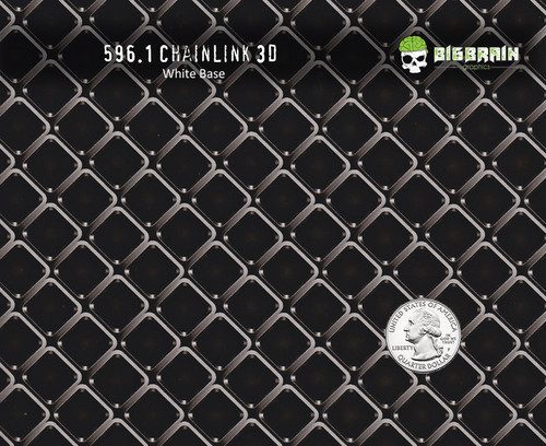 Chainlink Chain Link Abstract 3D Pattern Hydrographics Film Big Brain Graphics  White Base Quarter Reference