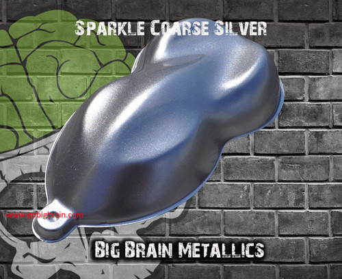 Sparkle Silver Coarse Highly Metallic Paint Big Brain Graphics Automotive High Quality