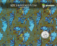 Hardened Patina Blue Hydrographics Film Pattern Big Brain Graphics Seller USA Buy Supplies White Base Quarter Reference