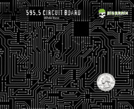Circuit Board Circuits Computer Hydrographics Film Pattern Big Brain Graphics USA Seller Sells White Base Quarter Reference