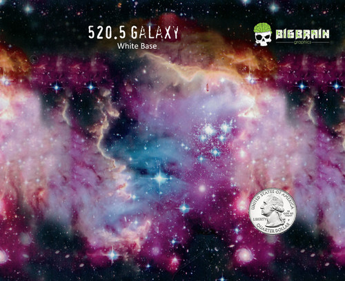 Space Galaxy Colorful Detailed Hydrographics Film Pattern Big Brain Graphics USA Seller White Base Quarter Reference