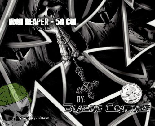 Iron Reaper Maltese Cross Pattern Grim Reaper Hydrographics Detailed Pattern Film Big Brain Graphics Seller Buy Supplies Big Brain Graphics White Base Quarter Reference