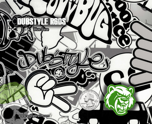 DubStyle VW Dub Hydrographics Pattern UK Rabid Graphics Hydrographics Film Big Dawg Dipping Pattern Buy USA Seller Big Brain Graphics White Base Quarter Reference