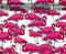 Flocka Flamingos Flock Flamingo Pink Animal Super Cute Woman Girl Hydrographics Print Water Transfer Printing Big Brain Graphics White Base