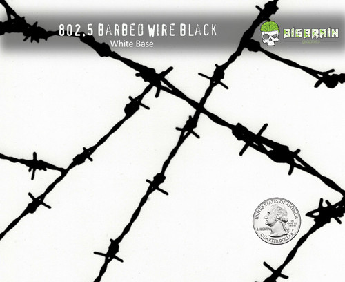 Barbed Barb Wire Bob Wire Fencing Sharp Looking Hydrographics Film