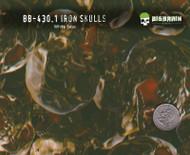 Iron Metal Skulls Evil Hydrographics Pattern Film White Base Quarter Reference