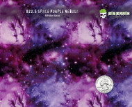 Purple Nebula Space Milky Way Pattern Spaced Out Hydrographics Film Pattern Big Brain Graphics USA Film Seller White Base Quarter Reference