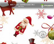Santa Snowman Reindeer Rudolph Hydrographics Film Pattern Big Brain Graphics White Base Quarter Reference