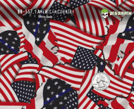 American Country Flag Flags Patriotic America Hydrographics Film Pattern Big Brain Graphics White Base Quarter Reference