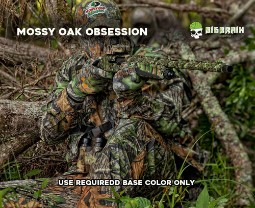 Mossy Oak Obsession Spring Turkey Hunting Hunter Camo realistic Hardwoods Hydrographics Film Pattern Dip Film Big Brain Graphics Authorized Seller