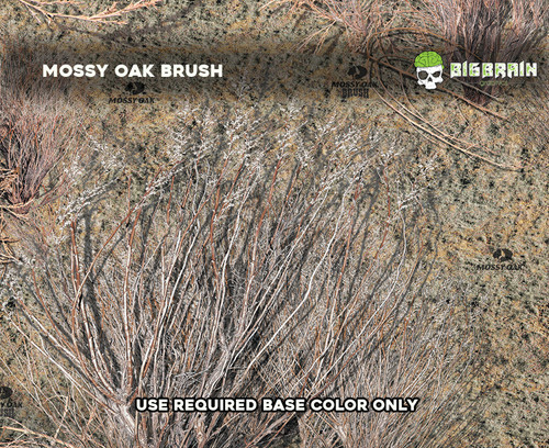 Mossy Oak Camo Camoflauge Hunting Camo Desert Bushes Hydrographics Film Pattern Dip Big Brain Graphics Authorized Seller