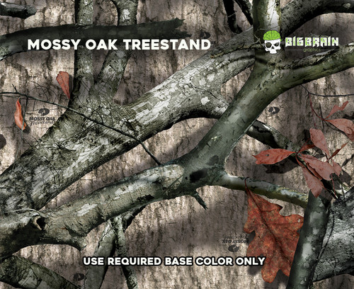 Mossy Oak Treestand Hardwoods Hard Wood Forest Tree Hunting Camo Camoflauge Hydrographics Film Pattern Dip Film Big Brain Graphics Authorized Seller