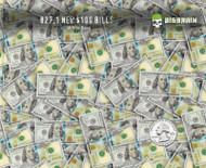 Big Face Hundreds $100 Bills Big Faces Benjamins Hundred Dollar Bills Big Brain Graphics Hydrographics Film Pattern White Base Quarter Reference