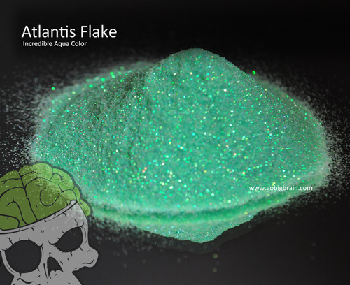 Atlantis Teal Aquamarine Flake Flakes .008 Size Big Brain Graphics Automotive Solvent Resistant