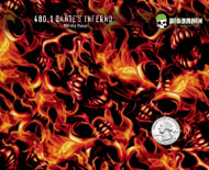 Dantes Dante Inferno Flames Fire Motorcycle Incredible 100 CM Pattern Big Brain Graphics Trusted USA Seller White Base Quarter Reference