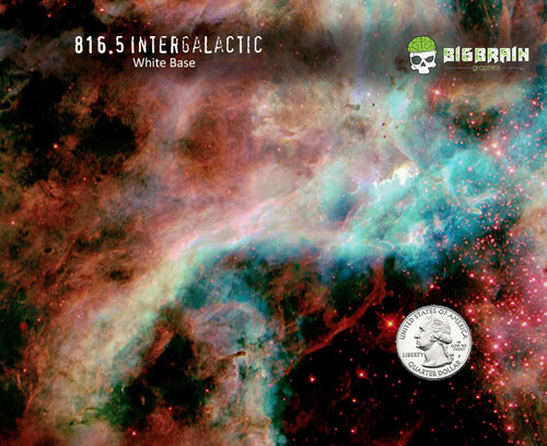 Intergalactic Milky Way Space Pattern Hydrographics Film Blue Big Brain Graphics Trusted USA Seller White Base Quarter Reference