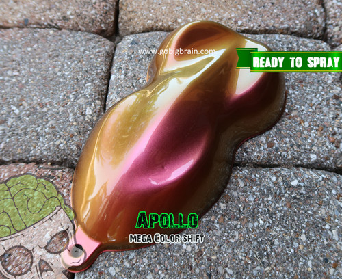 Apollo Color Shift Chameleon Big Brain Graphics Paint Base Coat Clear Coat Big Brain Coatings Automotive Paint Mega Shift