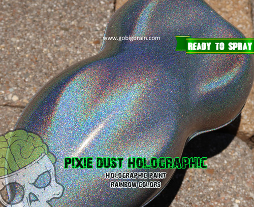 Holographic Color Shift Chameleon Paint Colorful Rainbow Pixie Dust Unicorn Dust Big Brain Coatings Big Brain Graphics Single Stage Paint Base Coat Clear Coat Sunshine Color 1