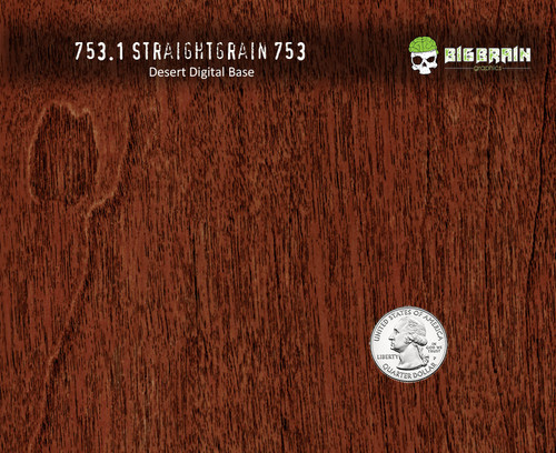 753 Red Dark Straightgrain Detailed Knotty Wood Woodgrain Big Brain Graphics Hydrographics Film Pattern Desert Digital Quarter Reference