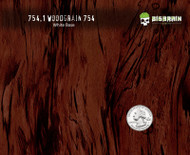 754 Fancy Red Dark Straightgrain Detailed Knotty Wood Woodgrain Big Brain Graphics Hydrographics Film Pattern White Base Quarter Reference