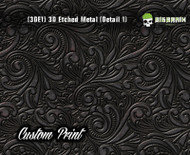 Custom Printed Design 3D Etched Metal Hydrographics Print Dip Film Big Brain Graphics