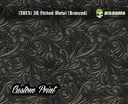 Custom Printed Design 3D Etched Metal Hydrographics Print Dip Film Big Brain Graphics (3)