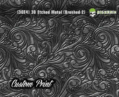 Custom Printed Design 3D Etched Metal Hydrographics Print Dip Film Big Brain Graphics (4) Brushed Metal 2