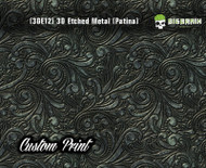 Custom Printed Design 3D Etched Metal Hydrographics Print Dip Film Big Brain Graphics (12) Brushed Bronze Patina