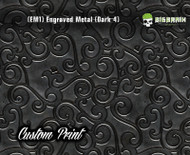 Engraved 3D Metal Etched Detailed Bronzed Bronze Hydrographics Dip Pattern Big Brain Graphics Custom Print Printed Dip Film