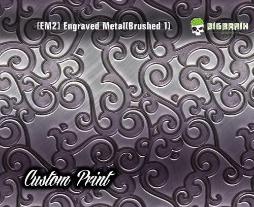 Engraved 3D Metal Etched Detailed Hydrographics Dip Pattern Big Brain Graphics Custom Print Printed Dip Film Nickel