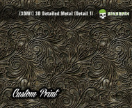 Custom Printed Design 3D Detail (3DM1) Metal Hydrographics Print Dip Film Big Brain Graphics (00) Brushed Bricks Metal
